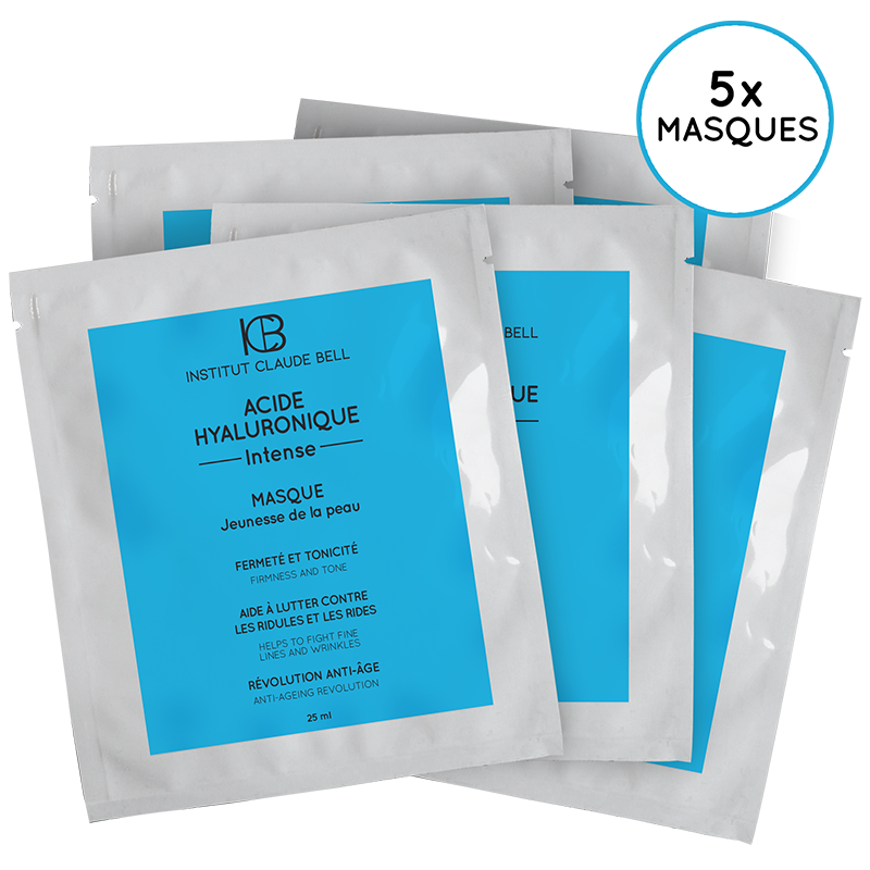 MASQUES  x5 - ACIDE HYALURONIQUE Intense